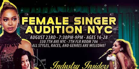 Female Singers Audition NYC tickets