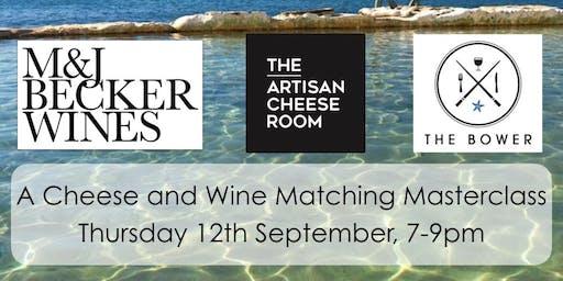 Cheese & Wine Matching Masterclass - The Artisan Cheese Room & M&J Becker Wines