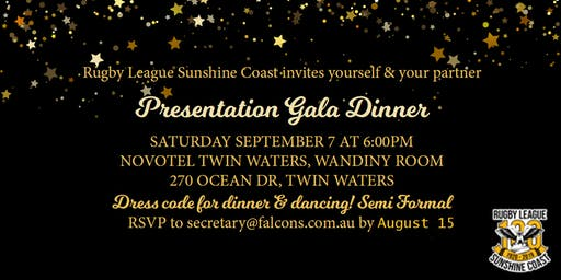 Rugby League Sunshine Coast Gala Dinner