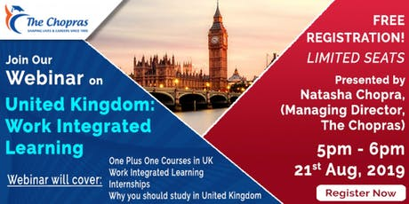 Webinar United Kingdom: Work Intergrated Learning tickets