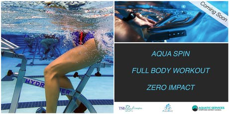 TSB Pool Complex Aqua Spin Classes - Free Promotion Day tickets
