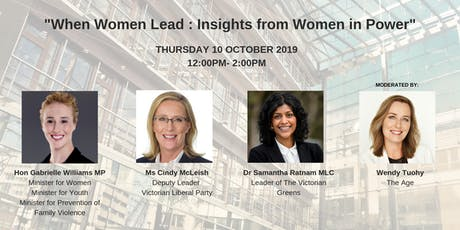 """When Women Lead: Insights from Women in Power"" tickets"
