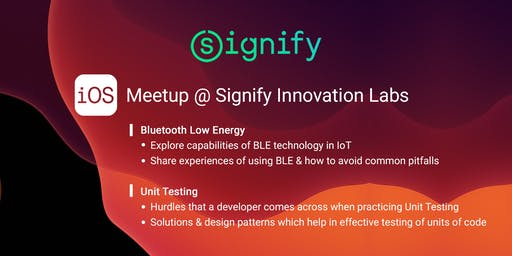 iOS Meetup @Signify Innovation Labs, Bangalore