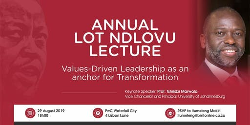 ANNUAL LOT NDLOVU LECTURE
