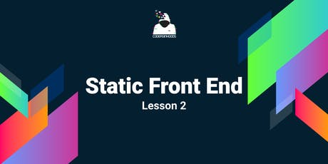 Static frontend Course(Free): Lesson 2 tickets