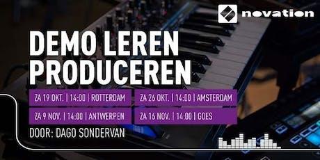 Demo Leren Produceren (Novation) bij Bax Music Goes tickets