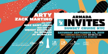 Armada Sunset Cruise with Mood Swing NYC: Wendy Escobar, DJ Romain & JC Morales tickets