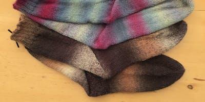 Learn to knit socks *cuff down