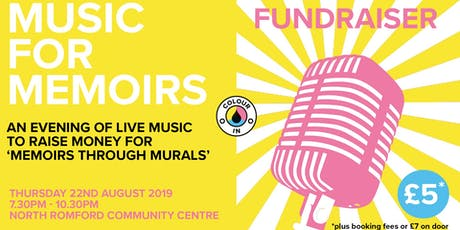 Music for Memoirs: Fundraiser tickets