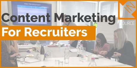 Content Marketing for Recruiters on Social Media (IN-HOUSE DELIVERY) tickets