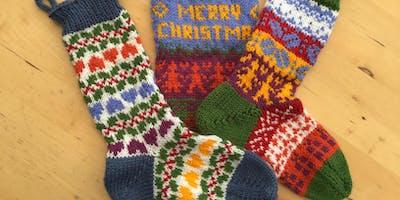 Fair isle Knitted stocking