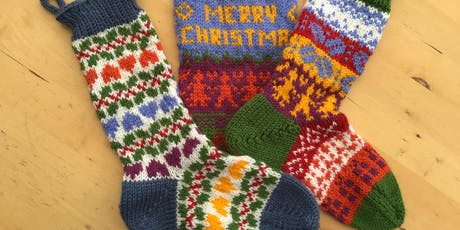 Fair isle Knitted stocking tickets