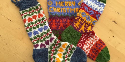 Fair isle Knitted stocking