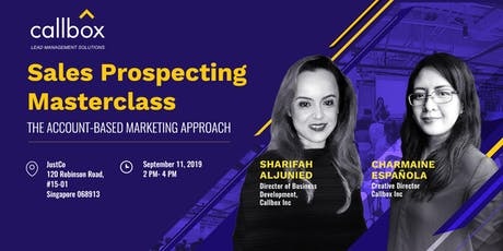 Callbox's Sales Prospecting Masterclass tickets