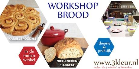 Brood ~ luxe witbrood, zuurdesem en niet-kneden ciabatta tickets
