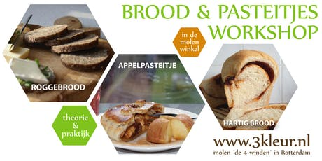 Workshop brood & pasteitje ~ hartig brood, roggebrood en pasteideeg tickets