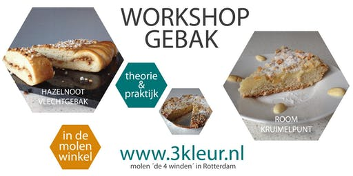 Workshop Gebak ~ room-kruimeltaart en noten-vlechtgebak