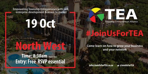 #JoinUsForTEA  North West - 19 October 2019