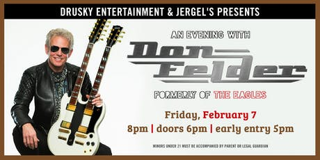 Don Felder - Formerly Of The Eagles tickets
