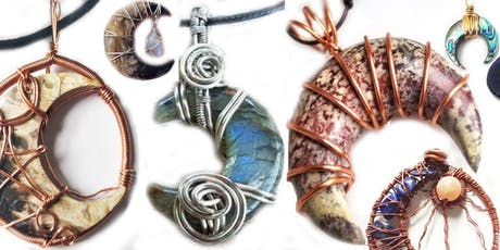 Crescent Moon Gemstone Wire Wrap Workshop with Marggi at Ipso Facto tickets