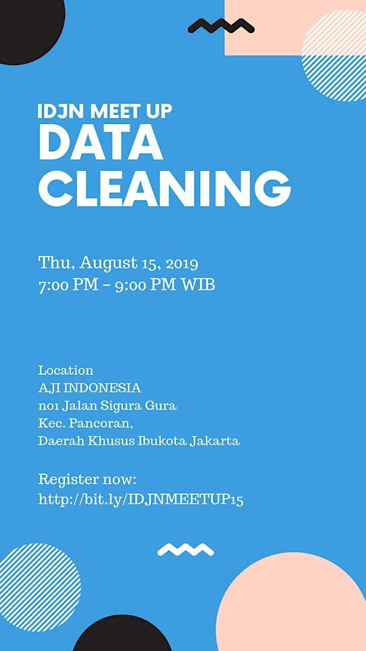 IDJN Meet-Up: Data Cleaning image