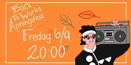 BackToWorks Åpningsfest tickets