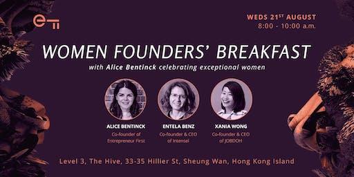 Women Founders Breakfast - celebrating exceptional women