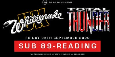 Whitesnake UK + Total Thunder (Sub89, Reading)