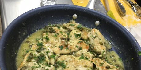Chicken Piccata over greens (Meal Included) tickets
