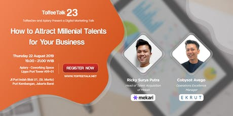 Toffeetalk #23 - How to Attract Millennial Talents For Your Business tickets