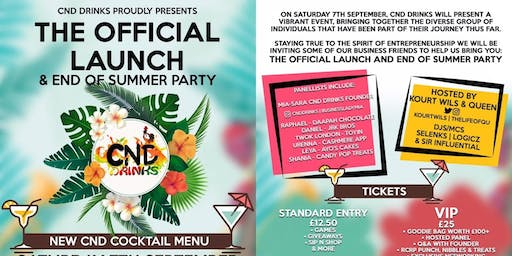CND Drinks: The Official Launch & End Of Summer Party