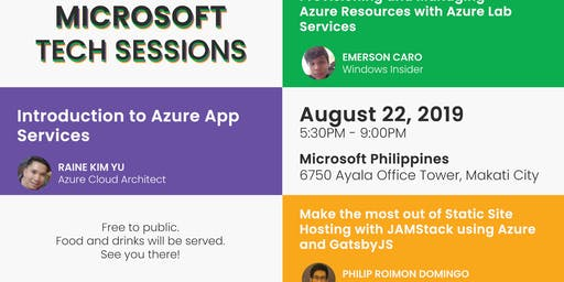 Microsoft Tech Sessions - August