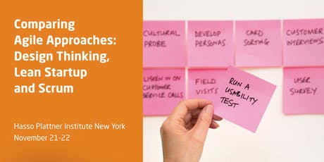 Comparing Agile Approaches: Design Thinking, Lean Startup and Scrum tickets