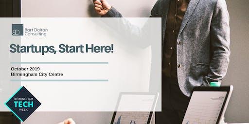 Startups, Start Here! BDC @ Birmingham Tech Week