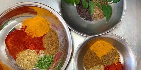 Beginner's Indian Cooking Class & Dinner tickets