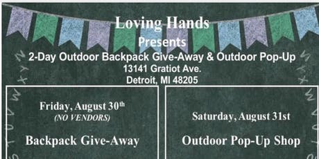 Loving Hands BackPack giveaway tickets