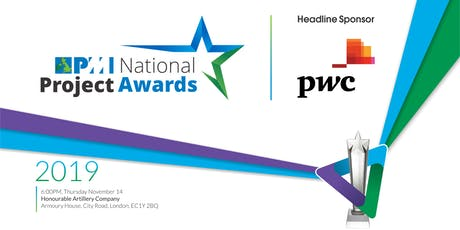 PMI UK National Project Awards 2019 tickets