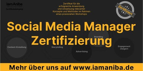 Zertifizierung zum Social Media Manager: 2-Tages-Workshop Tickets
