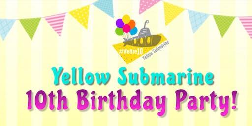 Yellow Submarine 10th Birthday Party!