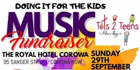 Doing it for the kids - Music Fundraiser for Tots2teens tickets