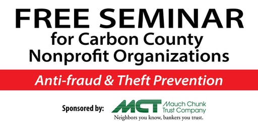 Anti-fraud and Theft Prevention Seminar for Nonprofit Organizations