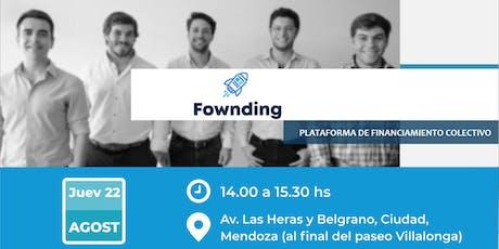 Charla Informativa sobre Fownding: plataforma colectiva de financiamiento entradas