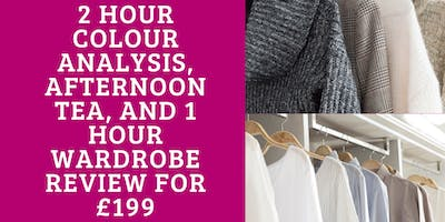 Colour Analysis with Wardrobe Review & Afternoon T