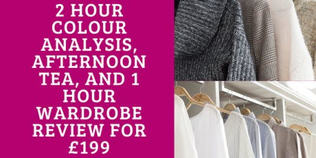Colour Analysis with Wardrobe Review & Afternoon Tea tickets