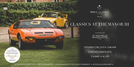 Classics At The Manor 3 tickets