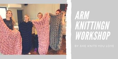 Arm Knitting Blanket Workshop