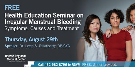Irregular Menstrual Bleeding: Symptoms, Causes & Treatment tickets