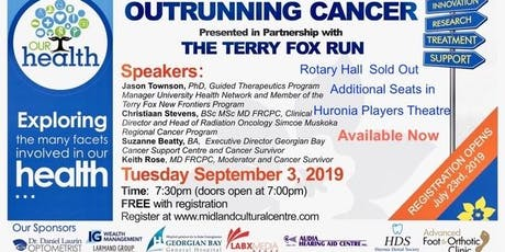 Our Health: Outrunning Cancer HURONIA PLAYERS THEATRE tickets