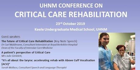 Critical Care Rehabilitation tickets
