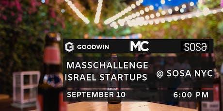 SOSA & MassChallenge Israel Startups Pitch Night  tickets